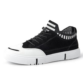 Ericdress Stripe Color Block Lace-Up Round Toe Men's Skate Shoes
