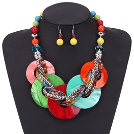 Ericdress Bohemian Style Earrings Holiday Jewelry Set