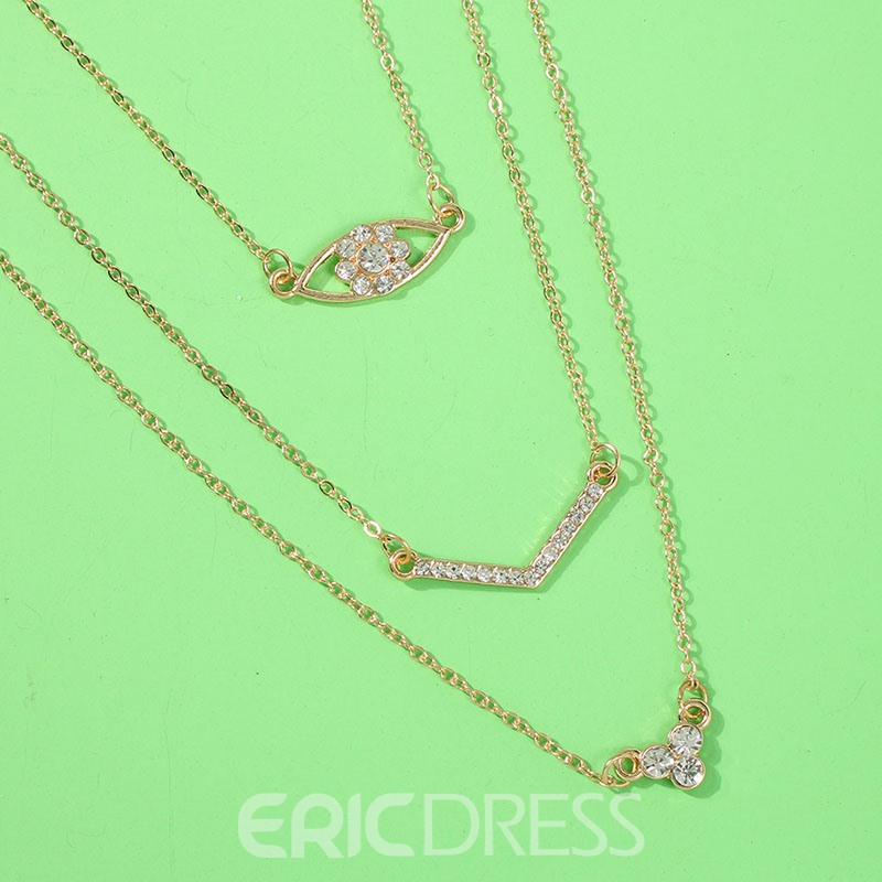 Ericdress Multilayer Pendant Necklace