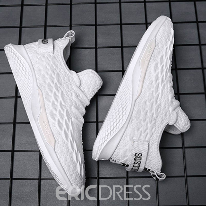 Ericdress Mesh Patchwork Low-Cut Upper Lace-Up Round Toe Men's Sneakers