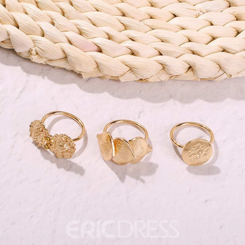 Ericdress Golden Fashion Ring