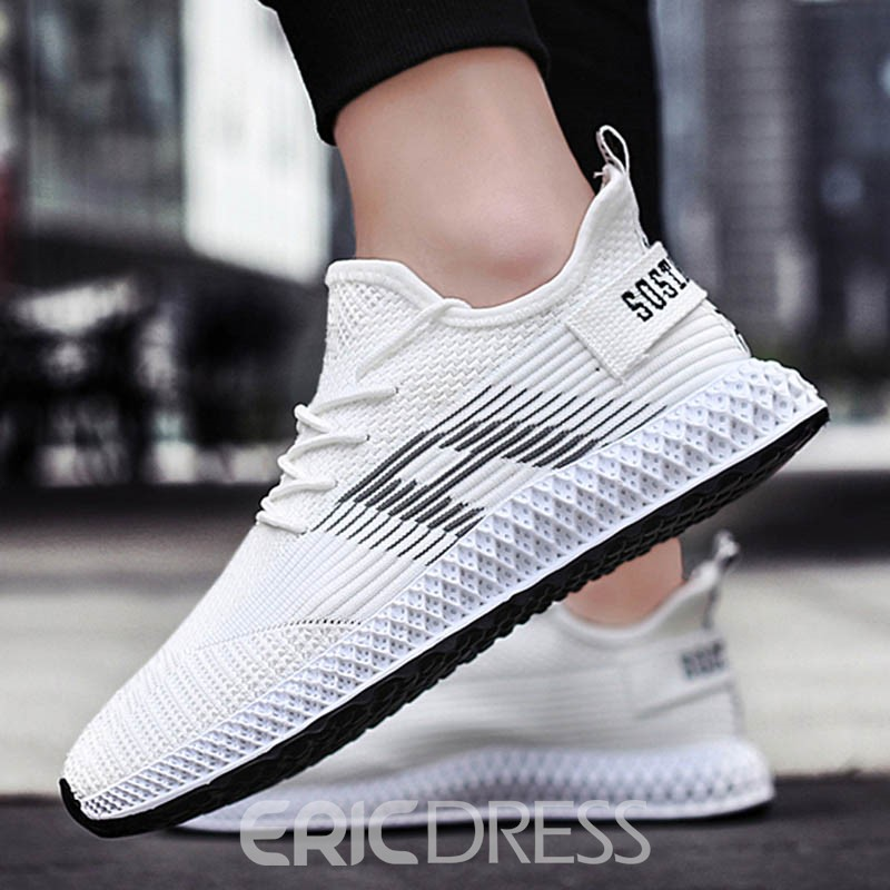 Ericdress Color Block Lace-Up Men's Sports Shoes