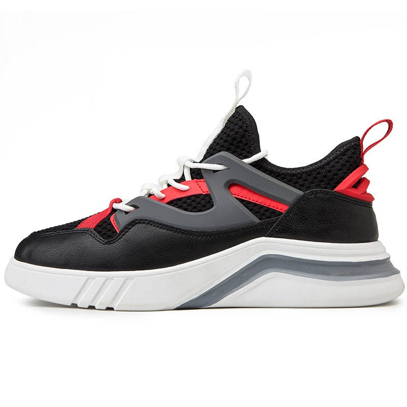 Ericdress Mesh Color Block Lace-Up Round Toe Men's Running Shoes