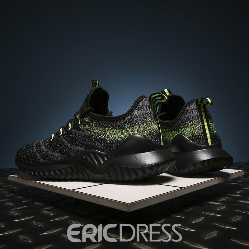 Ericdress Flyknit Low-Cut Upper Lace-Up Men's Sneakers