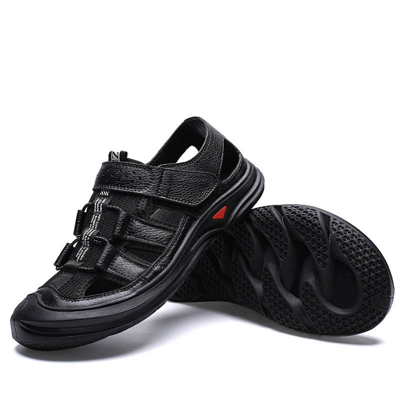 Ericdress Velcro Color Block Round Toe Men's Sandals