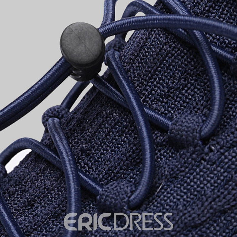 Ericdress Flyknit Lace-Up Round Toe Men's Running Shoes
