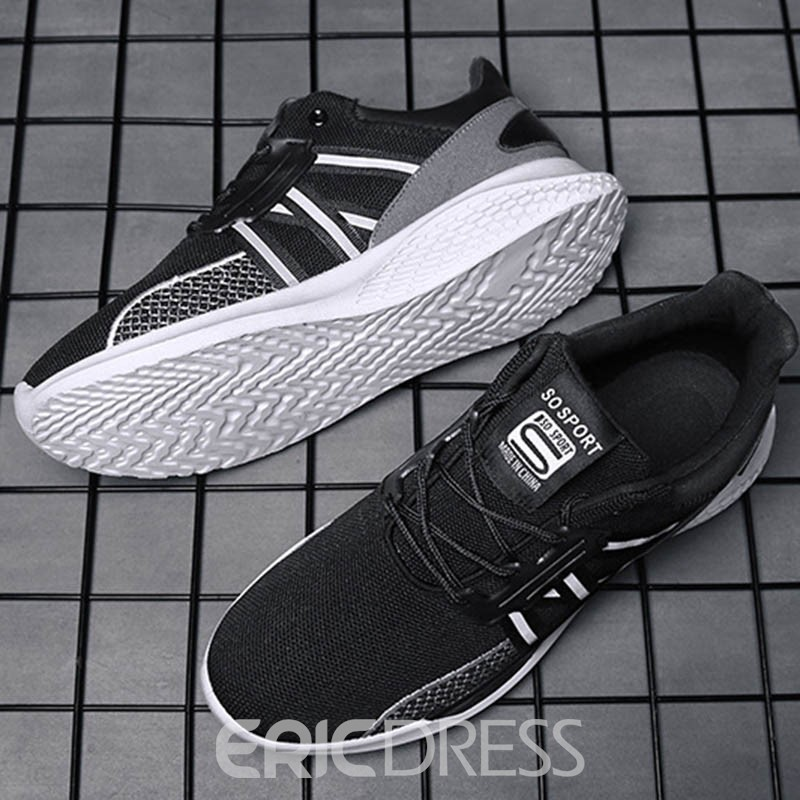 Ericdress Mesh Lace-Up Patchwork Round Toe Men's Athletic Shoes