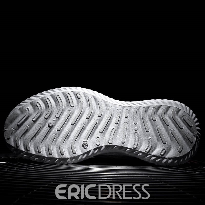 Ericdress Flyknit Low-Cut Upper Lace-Up Round Toe Men's Sneakers