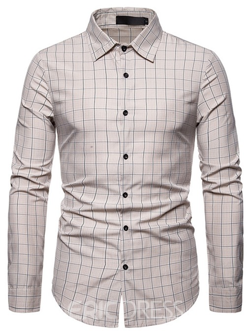 Ericdress Lapel Casual Men's Single-Breasted Shirt