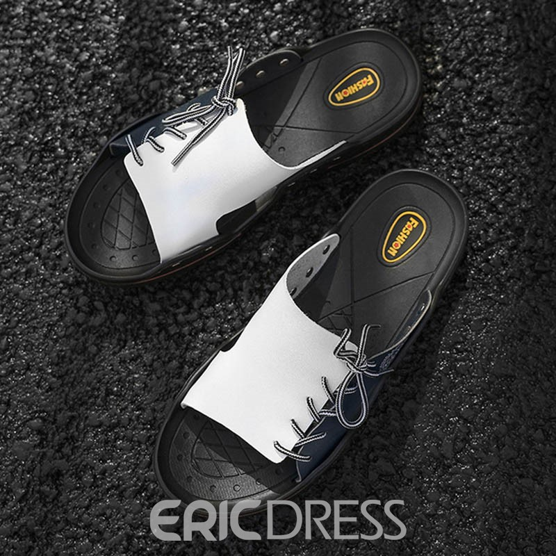 Ericdress Color Block Simple Hollow Men's Slippers