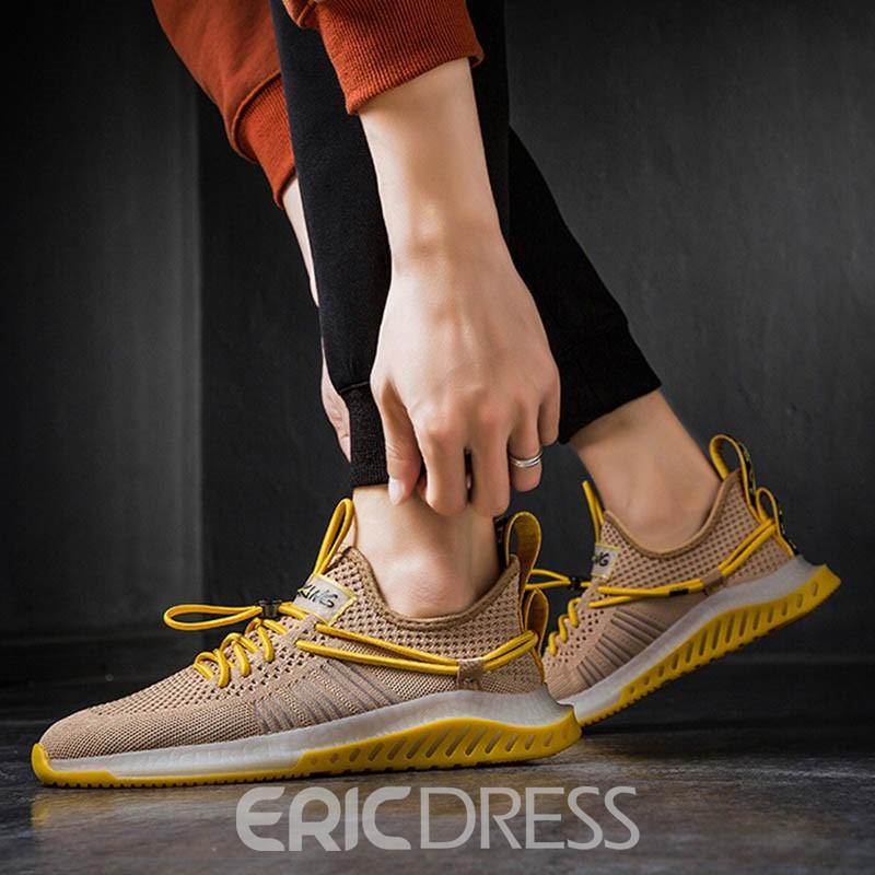 Ericdress Mesh Low-Cut Upper Lace-Up Men's Chic Sneakers