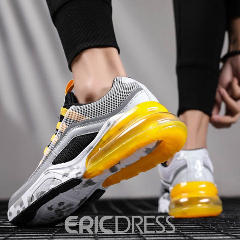 Ericdress Stripe Patchwork Low-Cut Upper Lace-Up Men's Sneakers