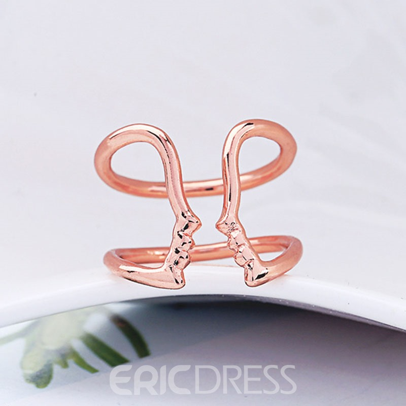 Ericdress Simple Golden Ring