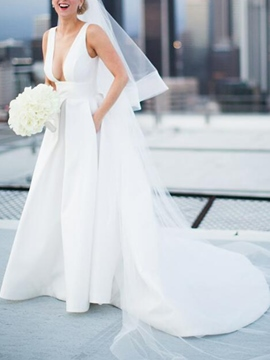 Ericdress Straps Pockets Hall Wedding Dress