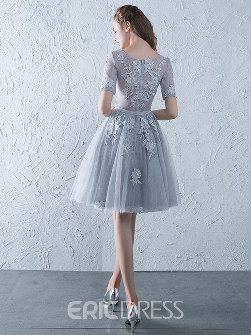 Ericdress Short A-Line Sashes Scoop Homecoming Dress