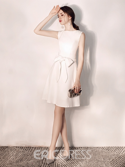 Ericdress A-Line Sleeveless Bowknot Short Homecoming Dress