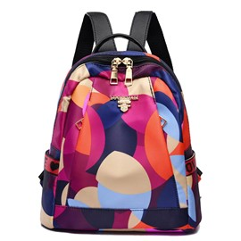 Ericdress Geometry Print Oxford Backpack