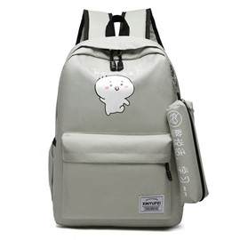 Ericdress Cartoon Print Canvas Backpack