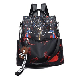 Ericdress Oxford Print Cartoon Backpack