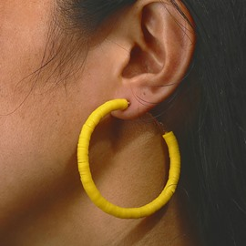 Ericdress Plain Colour Hoop Earrings