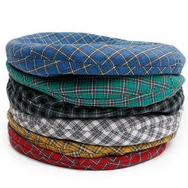ericdress baskenmütze japanese plaid summer hats