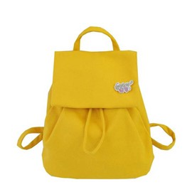 Ericdress Pure Colour Canvas Thread Backpack