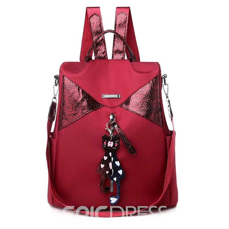 Ericdress Fashion Pure Colour Backpack