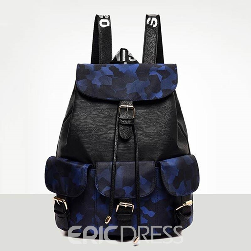 Ericdress Camouflage Colour Thread Oxford Backpack