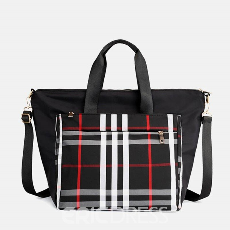 Ericdress PU Patchwork Plaid Grid Shoulder Bag