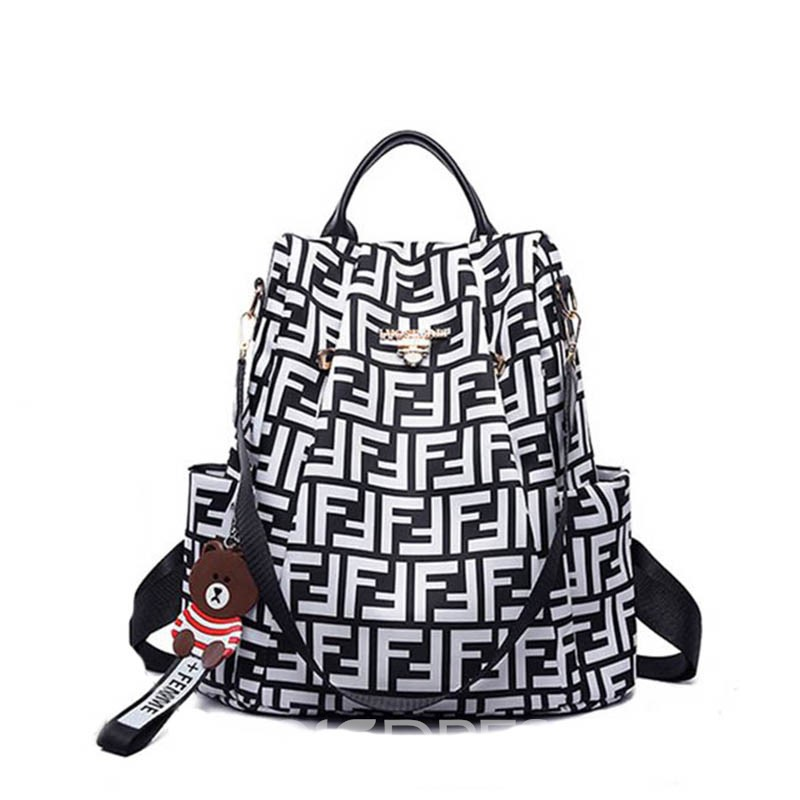 Ericdress Print Oxford Letter Printing Geometric Backpack