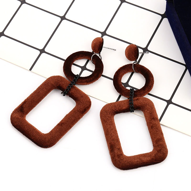 Ericdress Hollow Square Earrings
