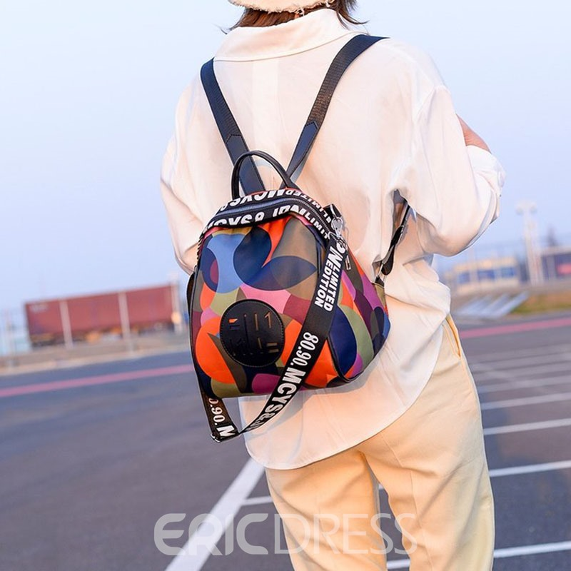 Ericdress Color Block Fashion Backpack