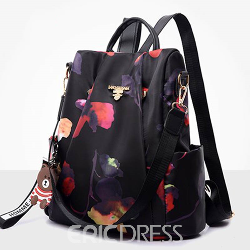 Ericdress Flower Oxford Thread Backpack