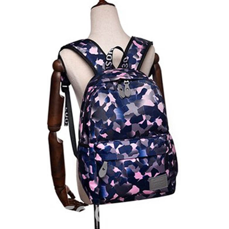 Ericdress Camouflage Colour Nylon Thread Backpack