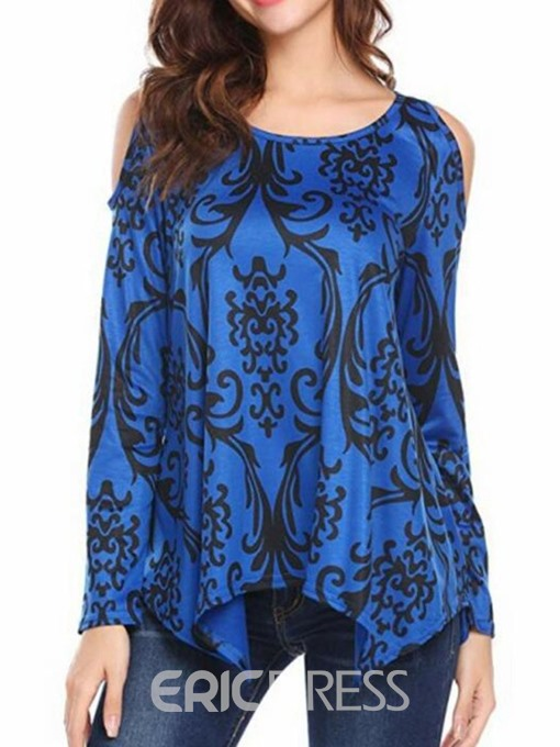 Ericdress Round Neck Print Long Sleeve Casual T-Shirt