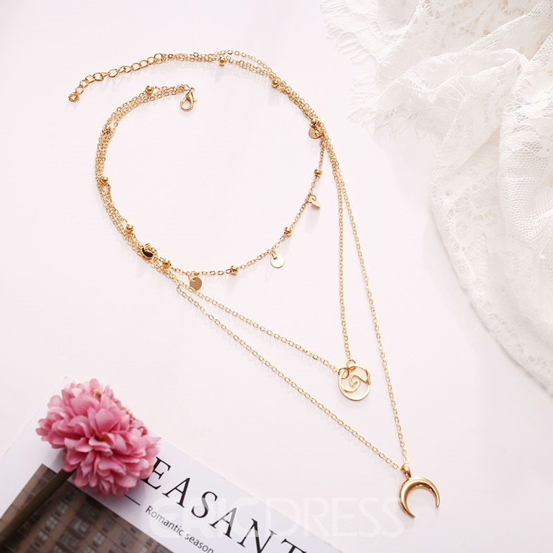 Ericdress Golden Moon Necklaces