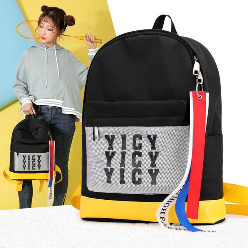Ericdress Print Canvas Letter Backpack
