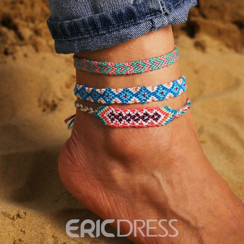 Ericdress Vintage Woven Knitted Anklet