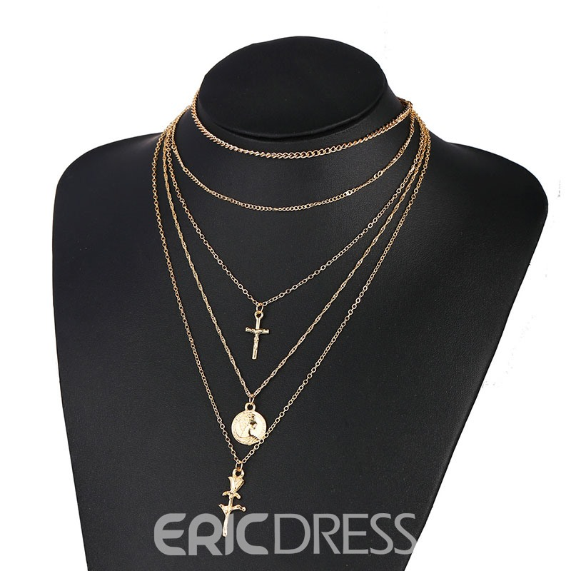 Ericdress Floral Golden Necklaces