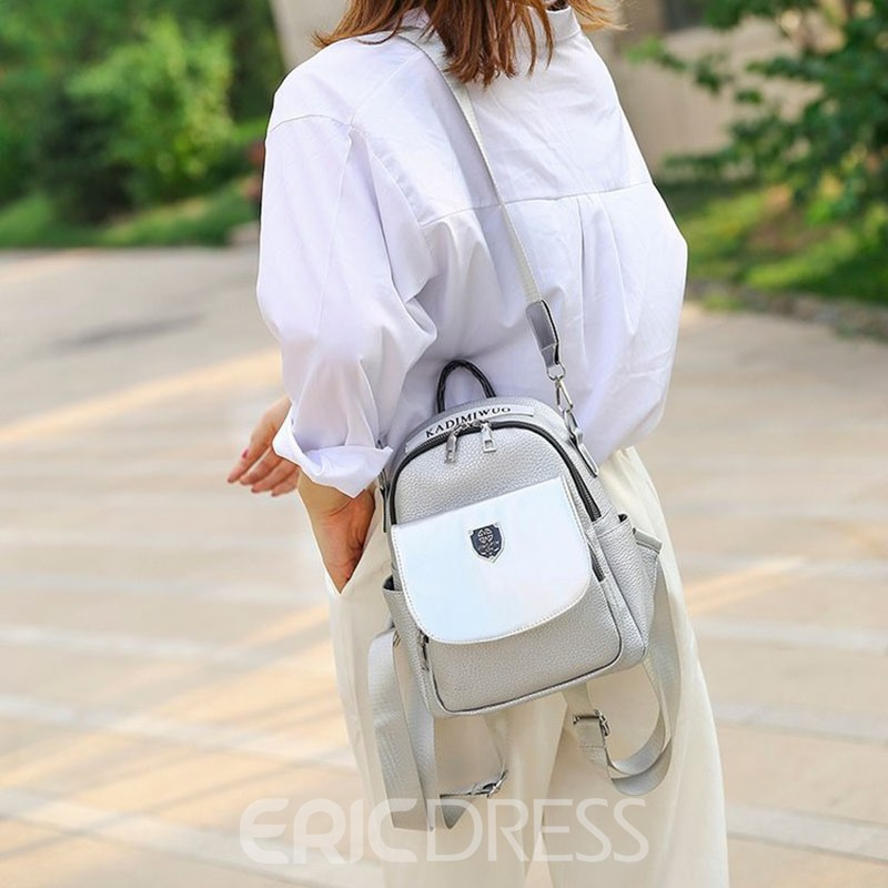 Ericdress Thread PU Letter Backpack