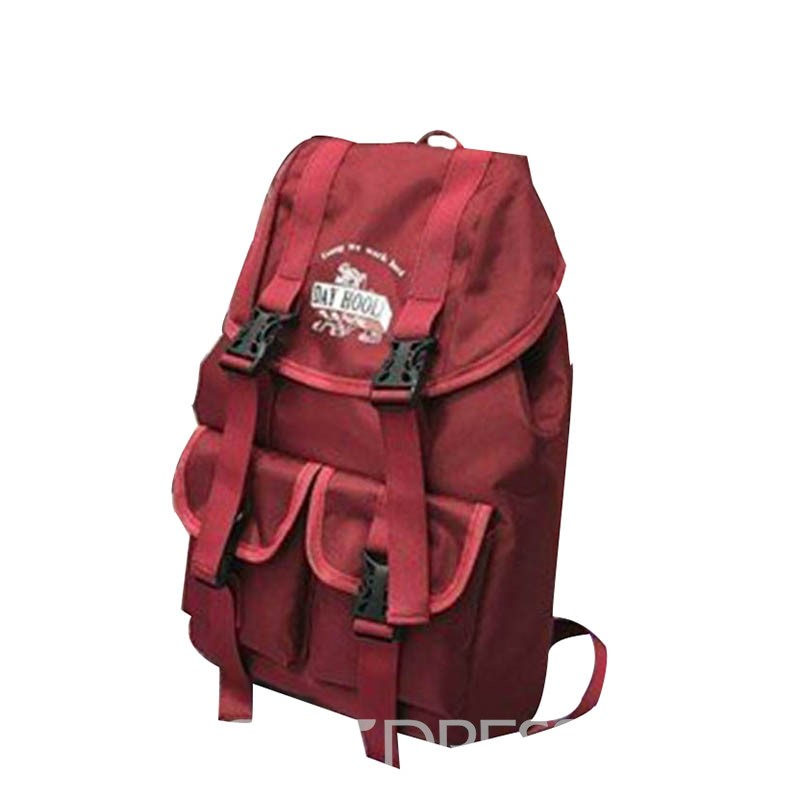 Ericdress Oxford Belt-Decorated Pure Backpack