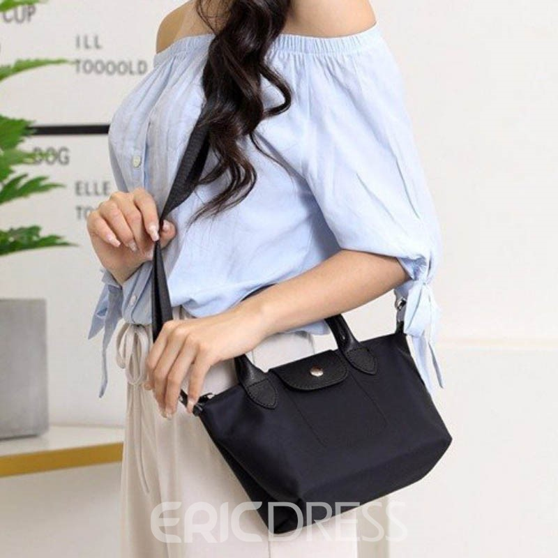 Ericdress Pure Colour Thread Rectangle Tote Bag
