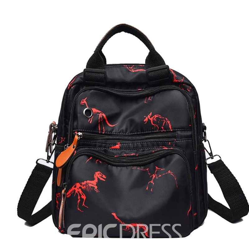 Ericdress Black Oxford Thread Backpack