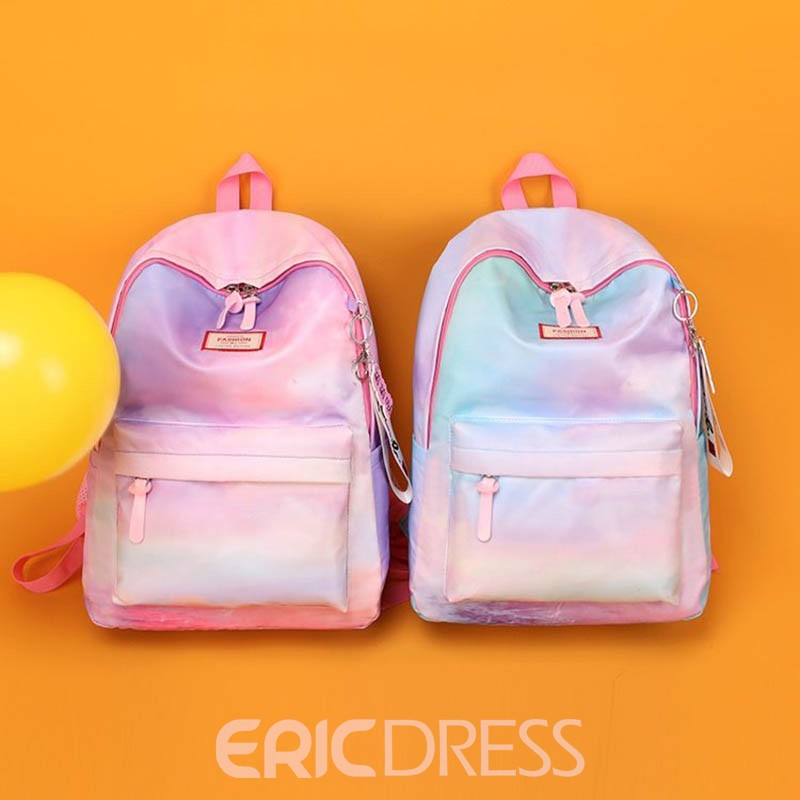 Ericdress Refreshingly Nylon Gradient Color Thread Backpack