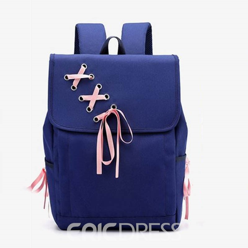 Ericdress olor Catching Nylon Thread Backpack