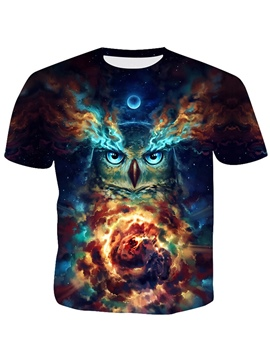 Ericdress Round Neck 3D Casual Men's Loose T-shirt