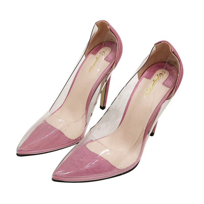 ericdress bout pointu slip-on see-through chaussures minces plaine