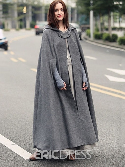 Ericdress Polyester Fashion Plain Fall Cape