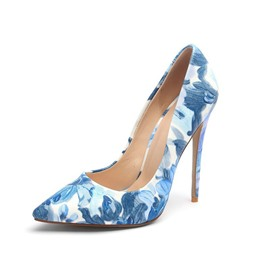 Ericdress Print Stiletto Heel Slip-On Women's Prom Shoes