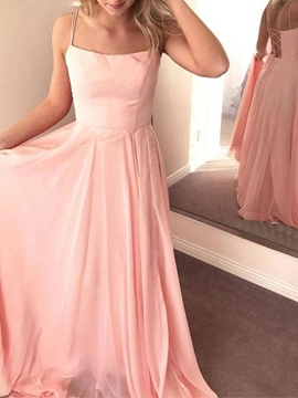 Ericdress A-Line Spaghetti Straps Floor-Length Sleeveless Bridesmaid Dresses